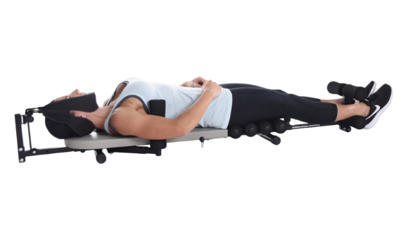 STAMINA INLINE BACK STRETCH BENCH WITH CERVICAL TRACTION
