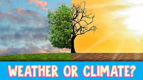 Weather or climate